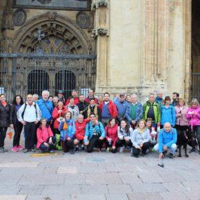 """Varias Agrupaciones de Ciudadanos Asturias organizaron una actividad para dar visibilidad al Camino de Santiago bajo el título """"el camino que nos une"""""""