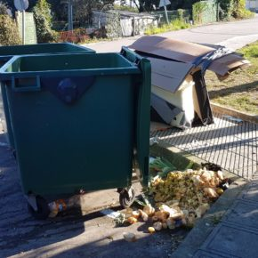 Ciudadanos Siero pide la retirada de residuos en las aceras próximas al Colegio Público Santa Bárbara de Lugones