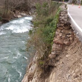 Ciudadanos urge la reparación urgente de la carretera N- 625 en el concejo de Amieva