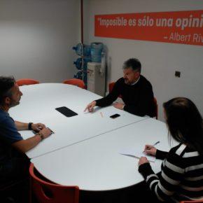 Sergio García se reúne con la Asamblea Autonómica de la Coordinadora Unitaria de Bomberos Profesionales del Principado de Asturias