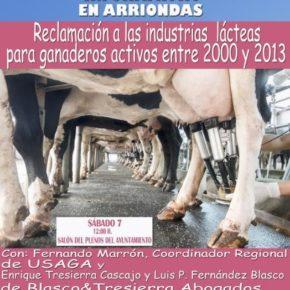 Cs y Usaga informan a los ganaderos del oriente sobre cómo reclamar indemnizaciones a las industrias lácteas